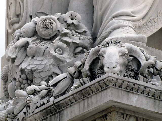 Detail, monument to Ferdinand III, Grand Duke of Tuscany, Livorno