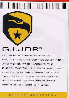G.I. Joe, a highly trained secret-ops unit, first and last line of defense of the world