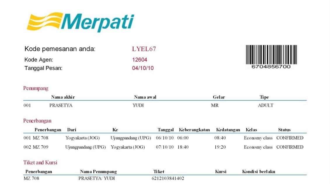 Tiket Pesawat Merpati Airlines Bintang Tiket Bogor