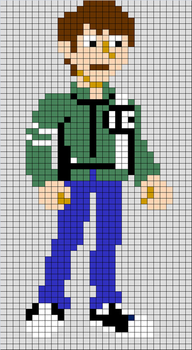 Ben 10 Alien Pixel Rock