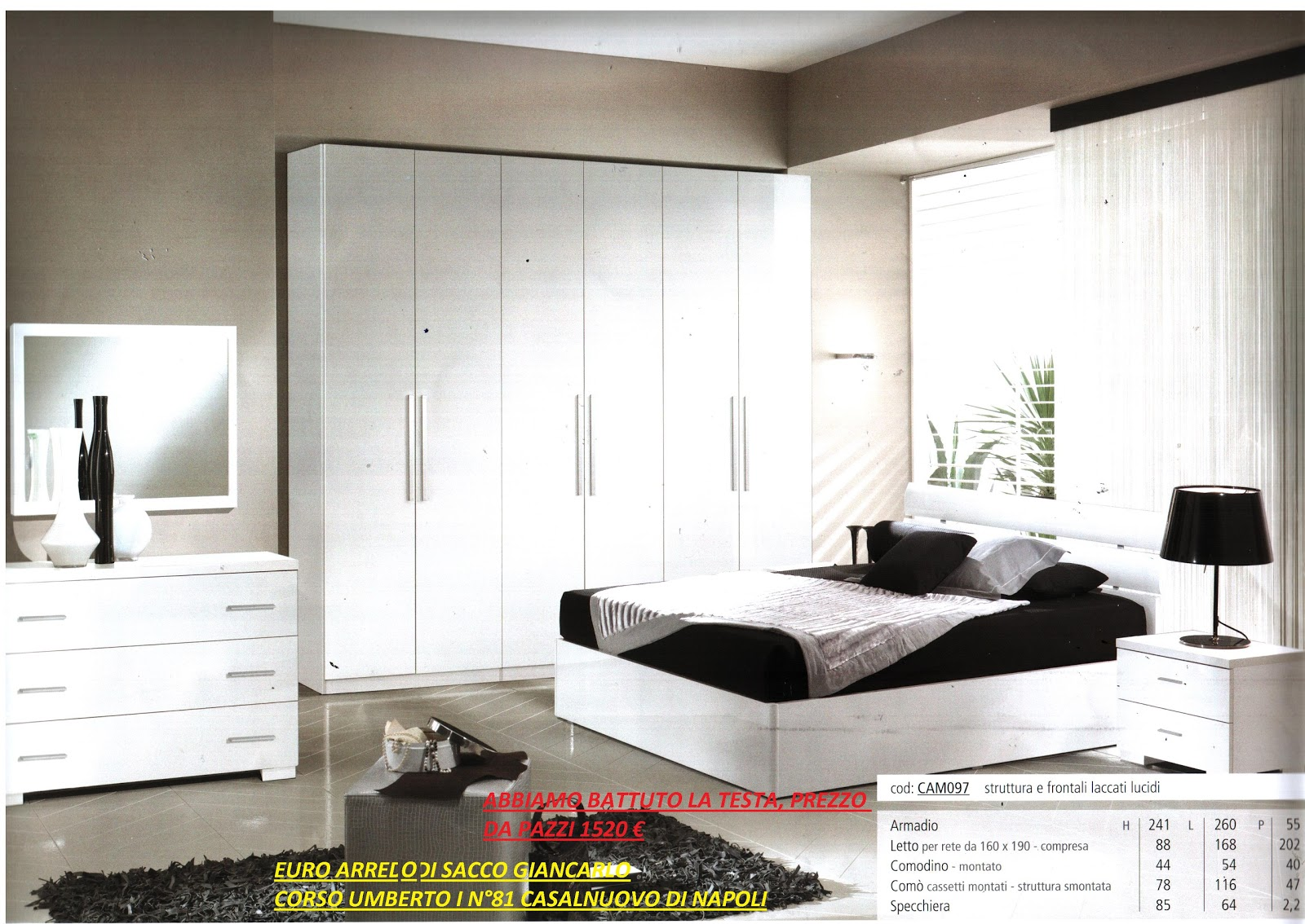 Euro arredo camere da letto e rif 097 for Camere da letto