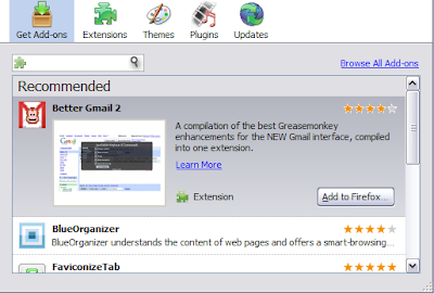 Increase The Number Of Recommended Addons That Firefox3