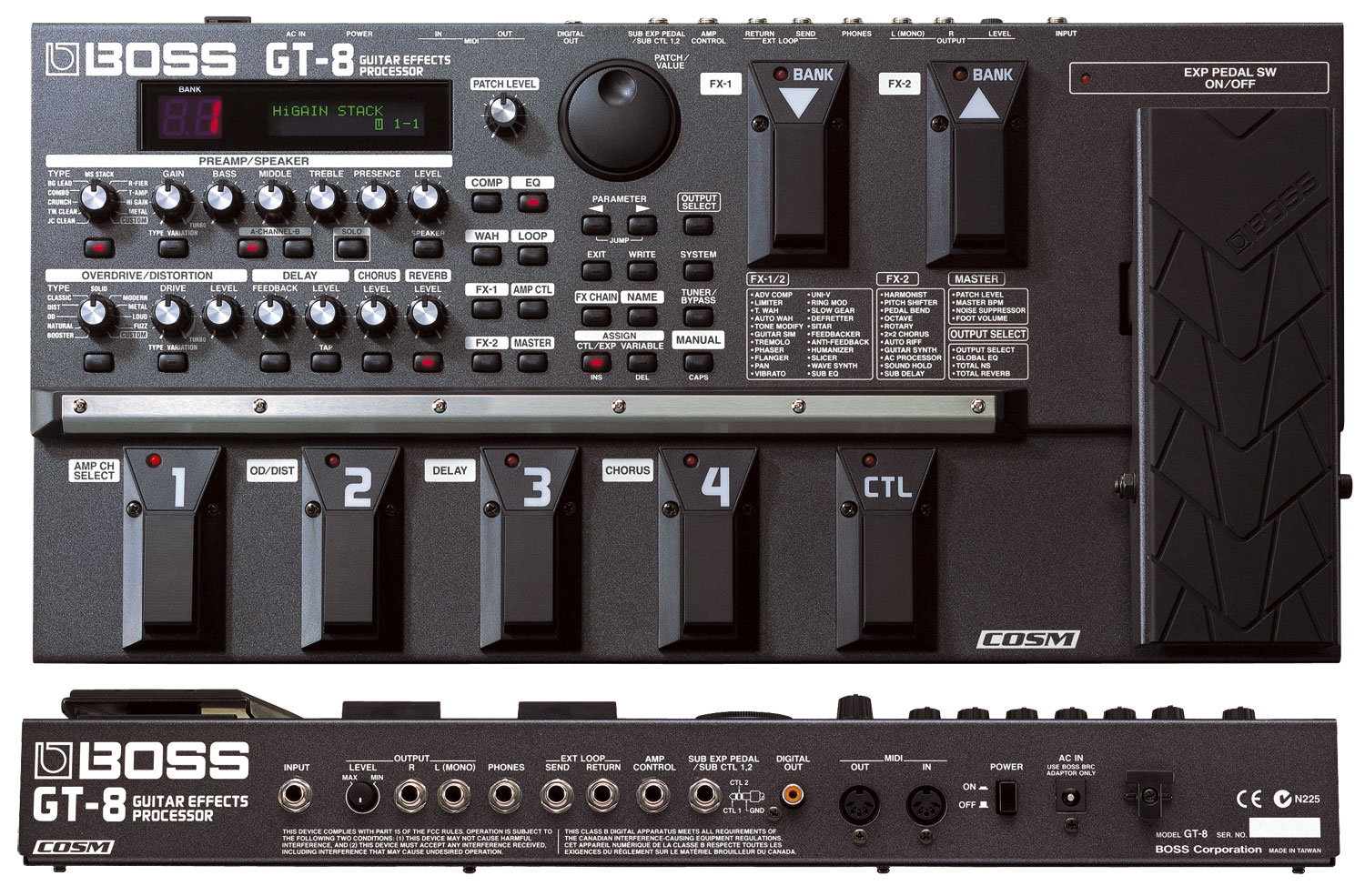 effects pedals boss boss gt 8 guitar effects processor review. Black Bedroom Furniture Sets. Home Design Ideas