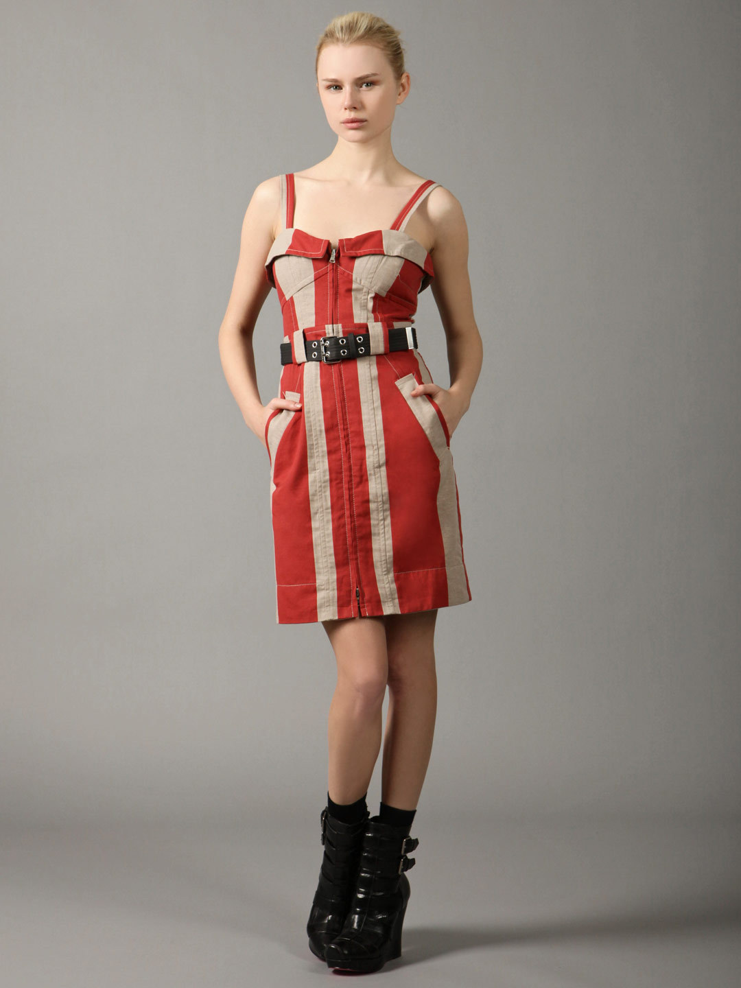 Marc by Marc Jacobs Crosstown Jacquard Zipper Front Dress from Gilt