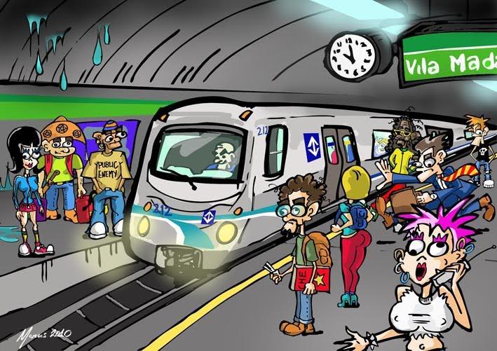Desenho Trash: Metrô De São Paulo