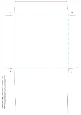 Mel stampz new envelope template for a 5 1 2 inch square for Legal size envelope template