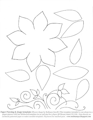 Paper flower patterns to cut out new calendar template site for Paper cut out templates flowers
