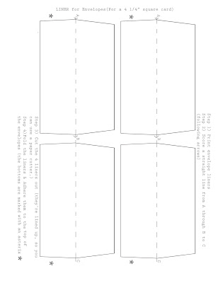 A1 Envelope Template. collection standard size of greeting card ...