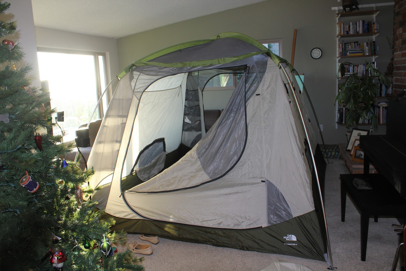 Pammie and the P's: Tent in Living Room, also known as Why