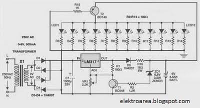 Lampu Led Emergency|otomatis, Battery 6 volt |Koleksi Skema Rangkaian|Artikel Elektronika