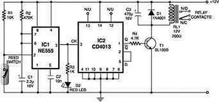 Rangkaian Magnetic Proximity Sensors