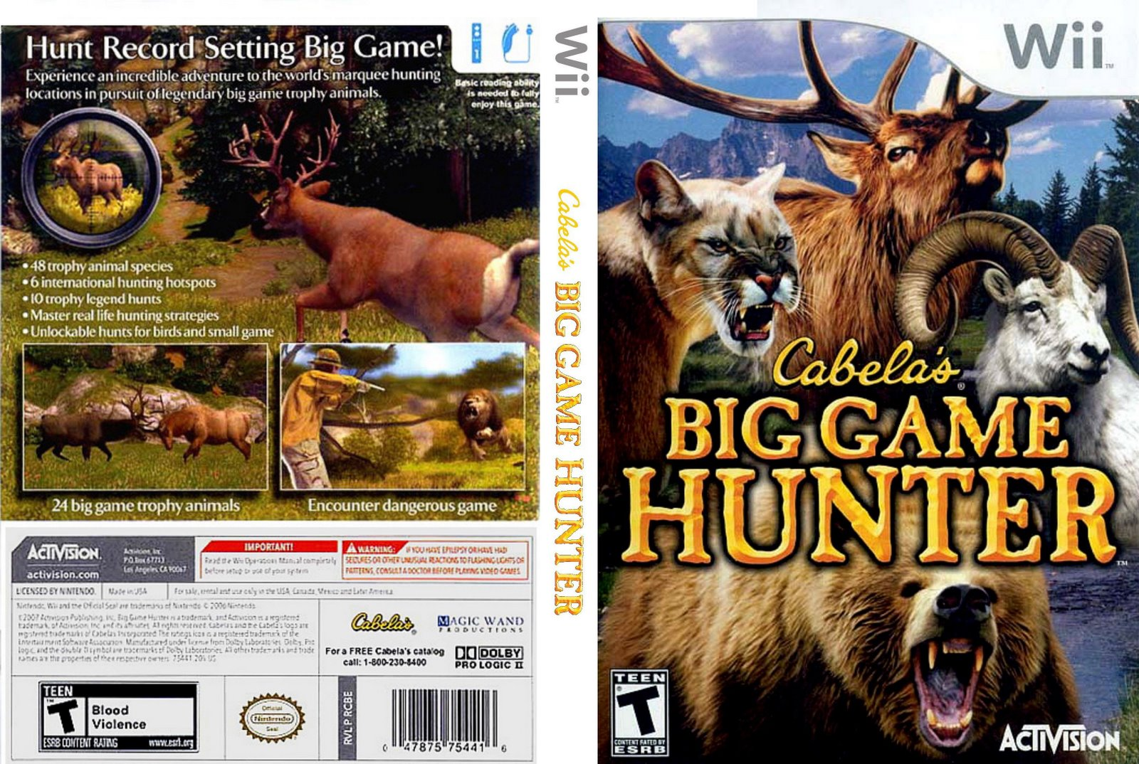 Games Covers: Cabela's Big Game Hunter - Wii