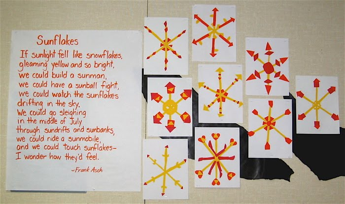 Creating Art With Kids: Sunflakes