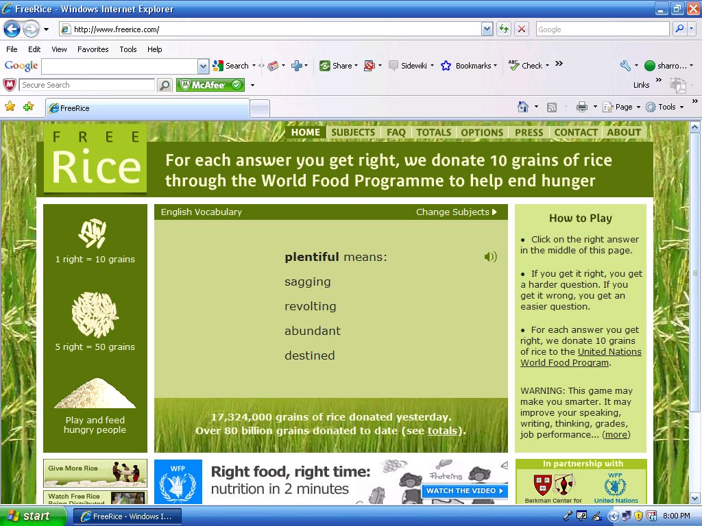 Free Things For Teachers Vocabulary And Grammar Activities For Freerice