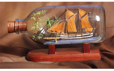 souvenir ship in a bottle