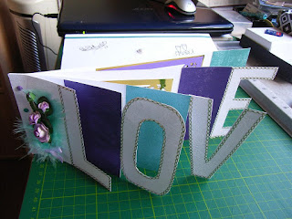 LOVE Book card crafted by Ann