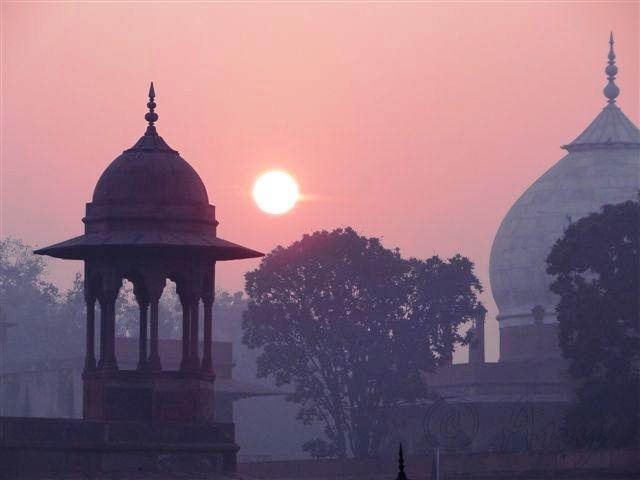 Amanecer en el Taj Mahal