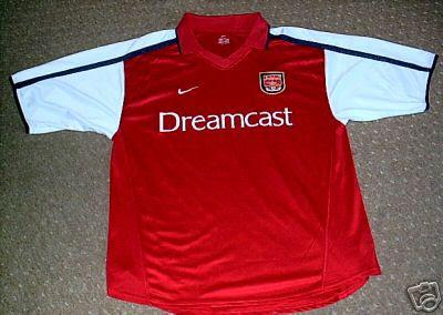 low priced 424d2 94ff0 Retro Treasures: Arsenal Dreamcast Shirt