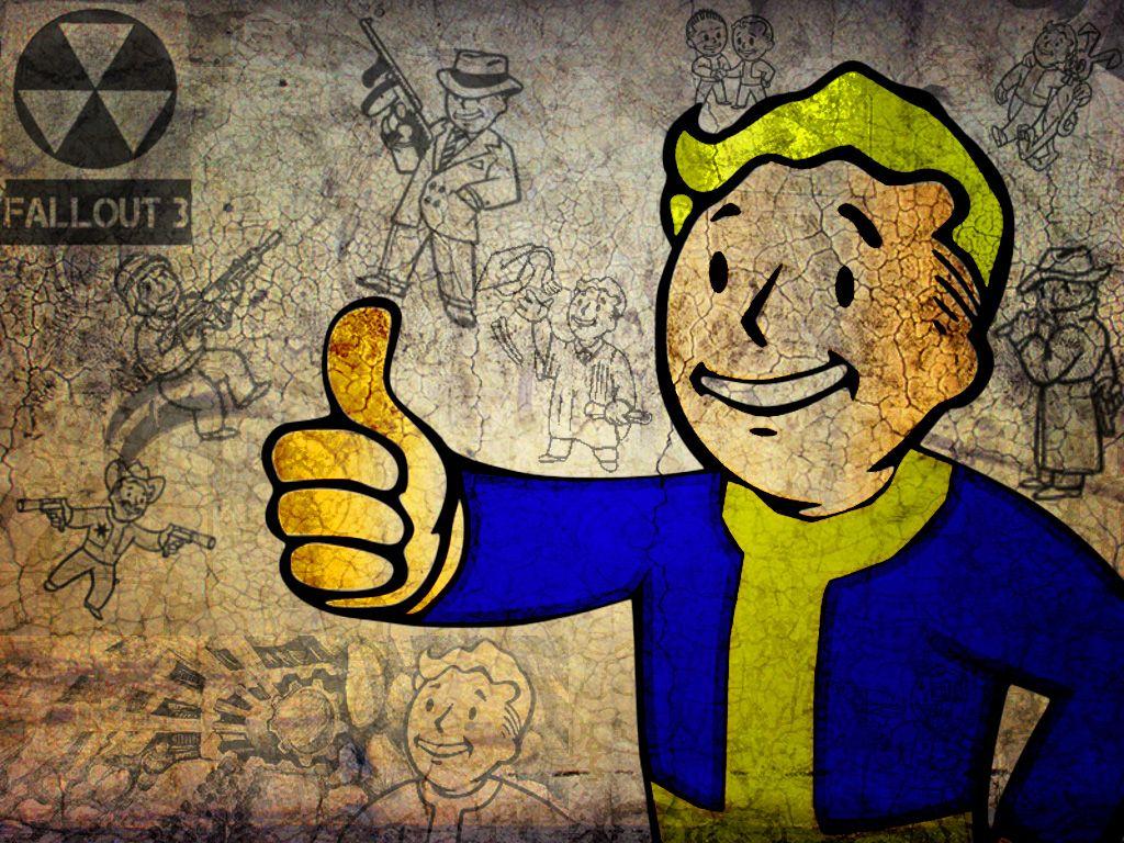 Walls Of Gaming Fallout Vault Boy Wallpaper