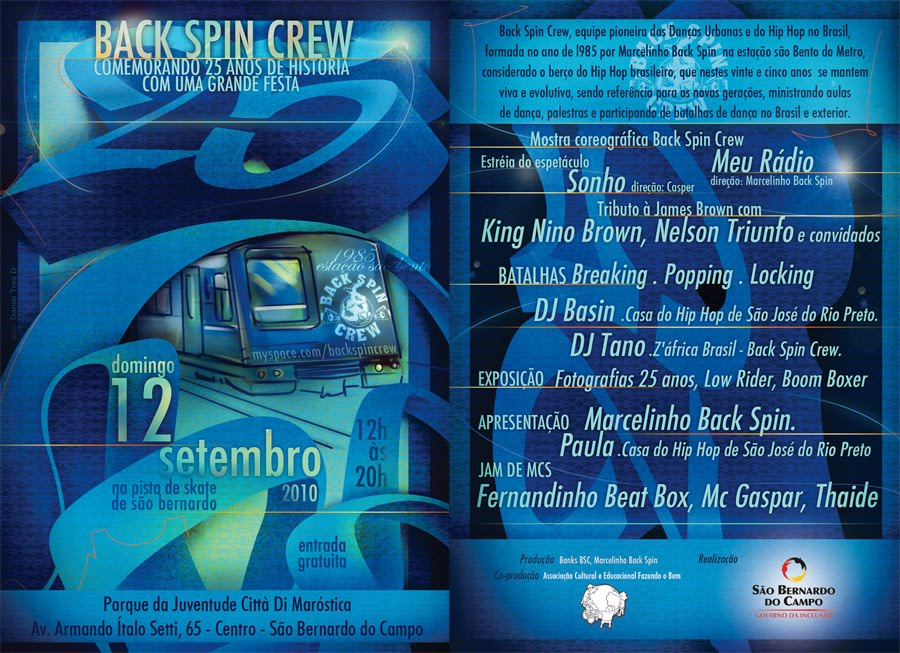 BACK SPIN CREW 25 ANOS