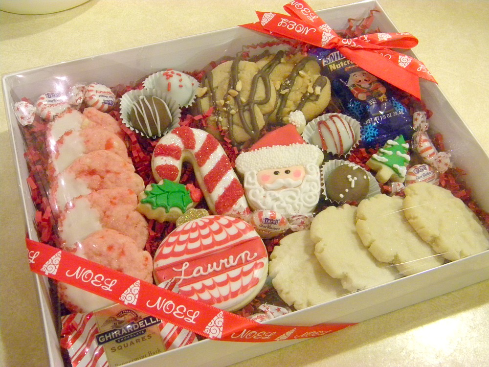 Christmas Cookies Box.Occasional Cookies Christmas Gift Boxes