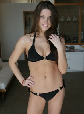 Ashley Greene's Hot black Bikini Pictures