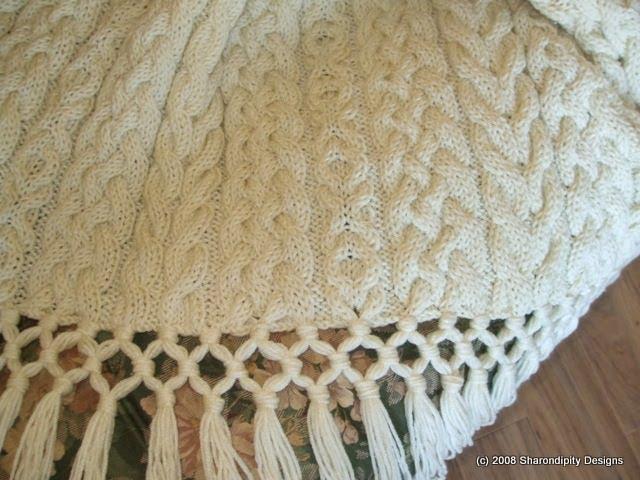 Sharondipity Designs Irish Wedding Aran Afghan Pattern