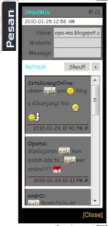 opa-ma.blogspot.com Make Shoutmix Fly or membuat shoutbox chat Melayang terbang