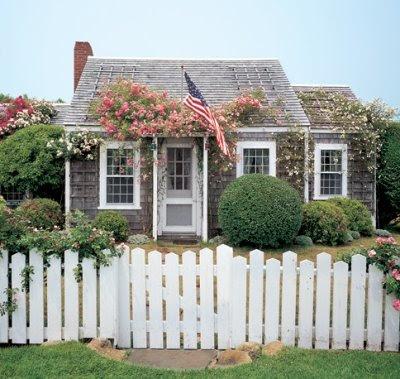 Nantucket cottage garden