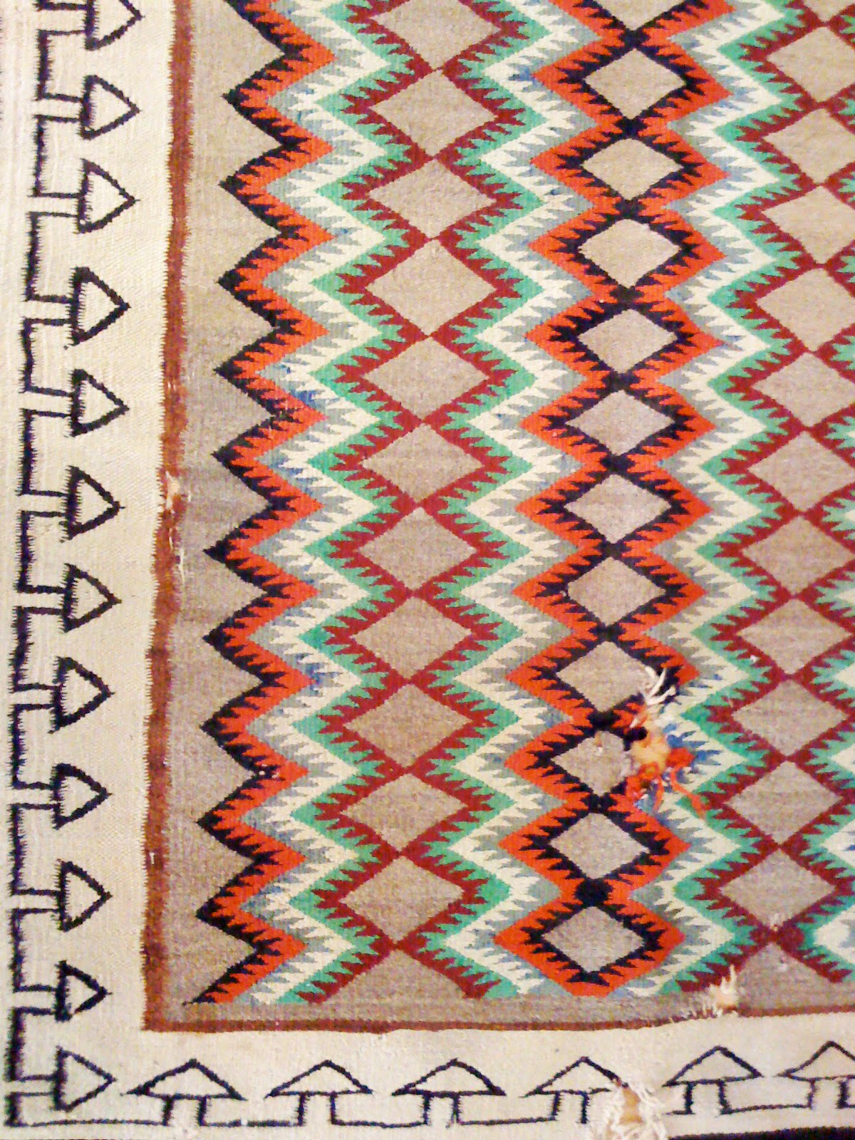 Chic Provence Vintage Navajo Rug Upcycle Able