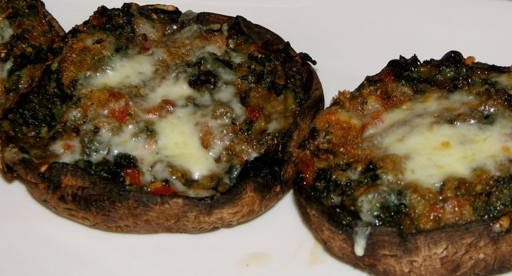 what's for dinner tonight ladies recipes spinach and cheese stuffed portabello mushrooms