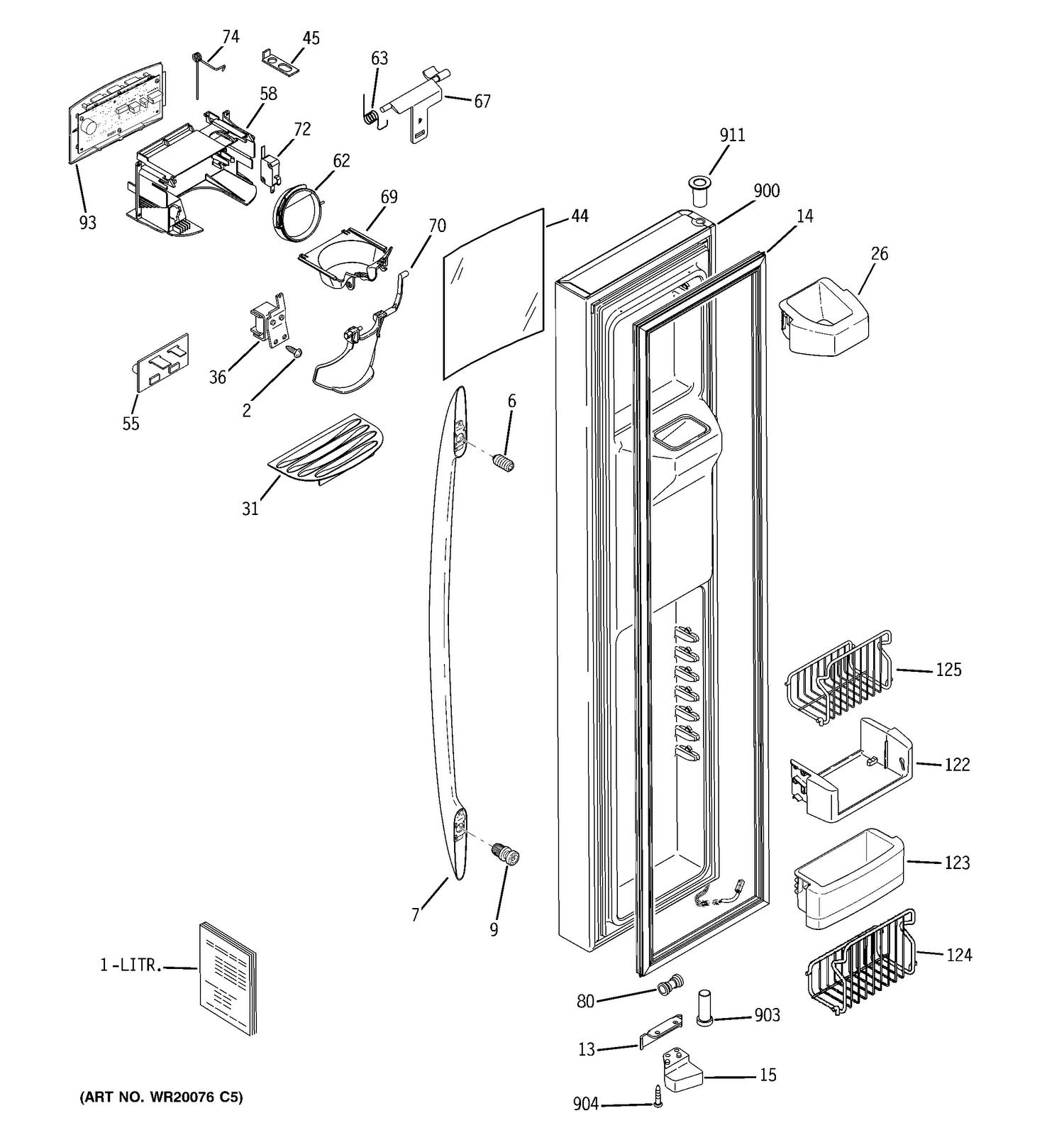 Ge Refrigerator Parts Diagram