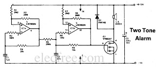 Circuit Electronics: Two Tone Alarm with IC LM3900