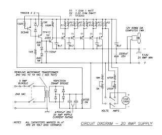 Electronic & Computer: Power Supply 13 8V 20A by Transistor