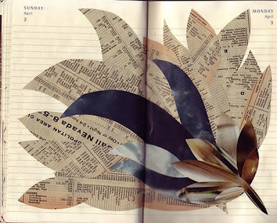 Imaginative Sketchbook Collages