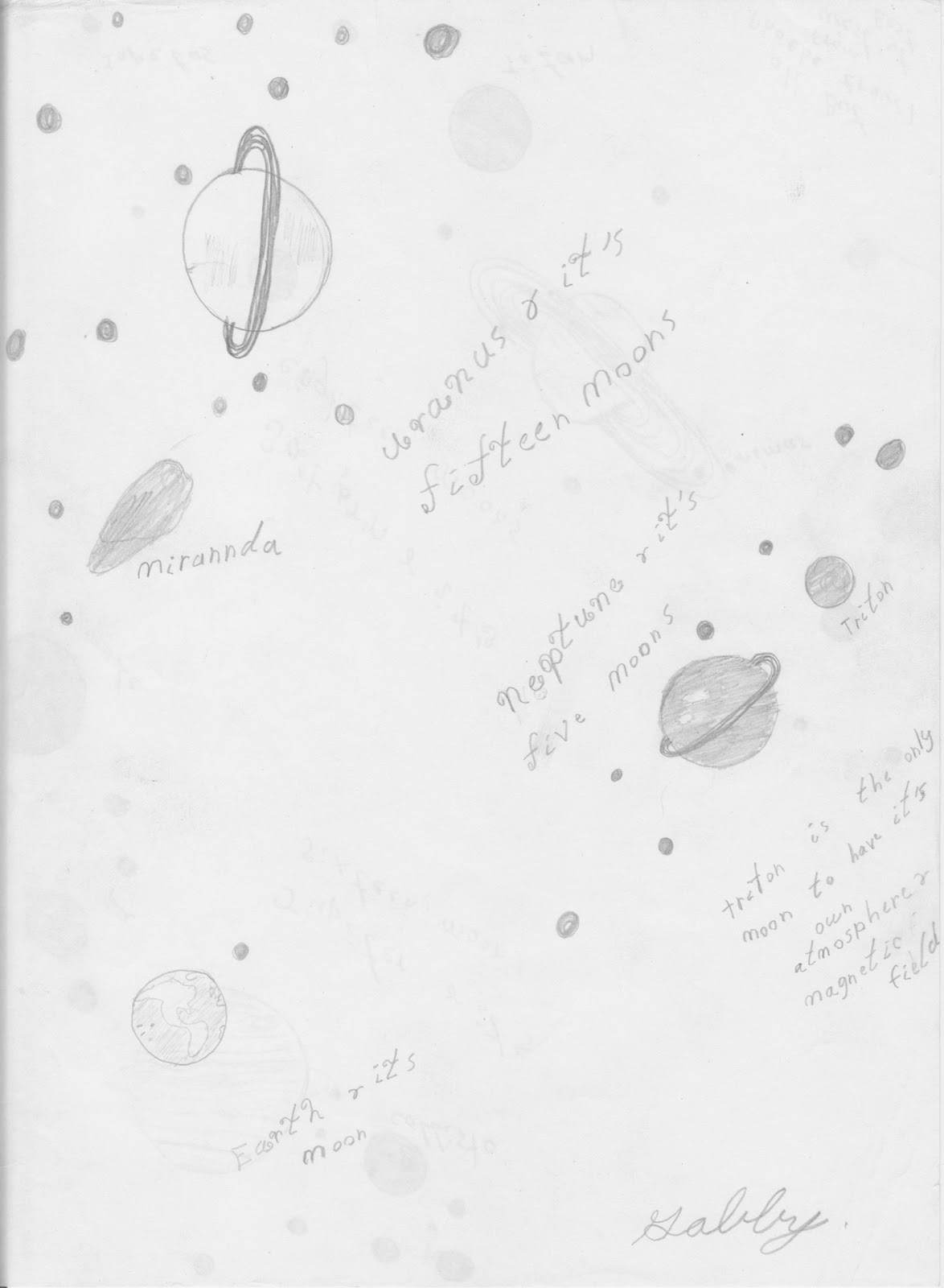 Space Planets Pencil Drawing Page 4