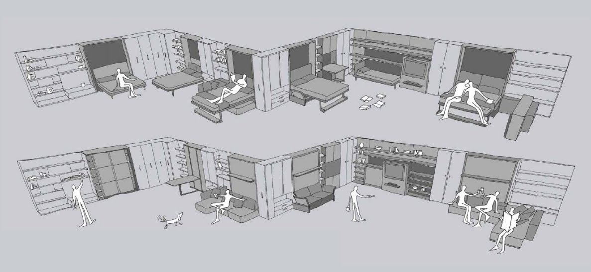 Hablemos un poco de todo muebles convertibles clei for Muebles convertibles