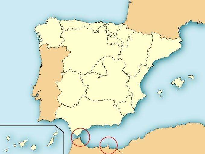 Mapa Marruecos Ceuta Y Melilla.Hablemos Un Poco De Todo Ceuta Y Melilla
