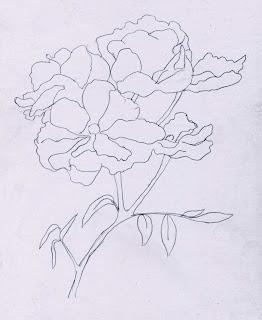 Harumnya Bunga  Mawar  Belajar  Menggambar