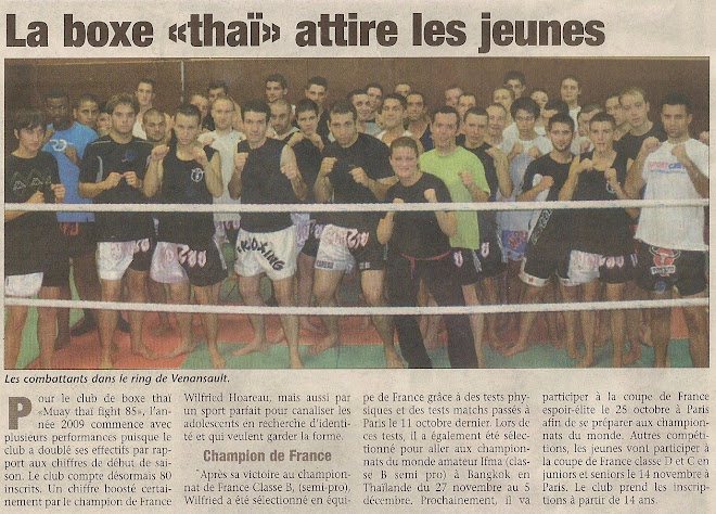 Article du Journal du Pays Yonnais du 22/11/2009
