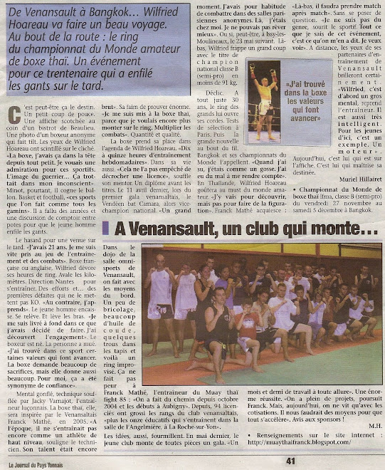 ARTICLE DU 26.11.09 LE JOURNAL DU PAYS YONNAIS