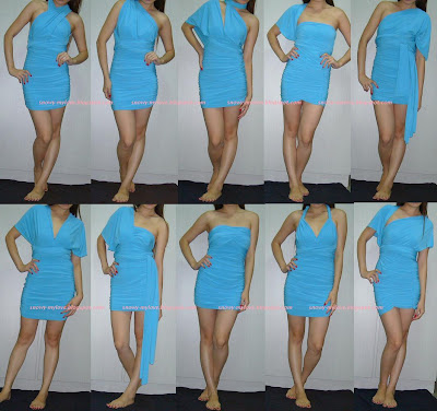 Victoria S Secret Ruched Convertible Dress One So Many Y Ways To Wear It Comes With How Instructions Imported Polyester Spandex Matte