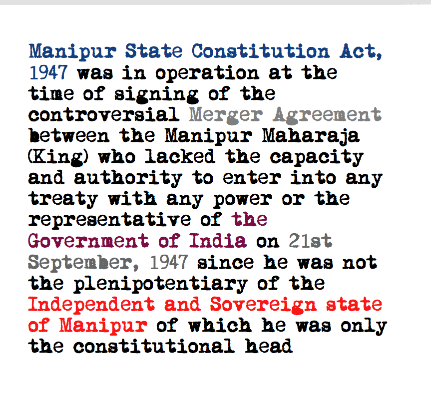 Land Records Some Manipuri Arguments Against India