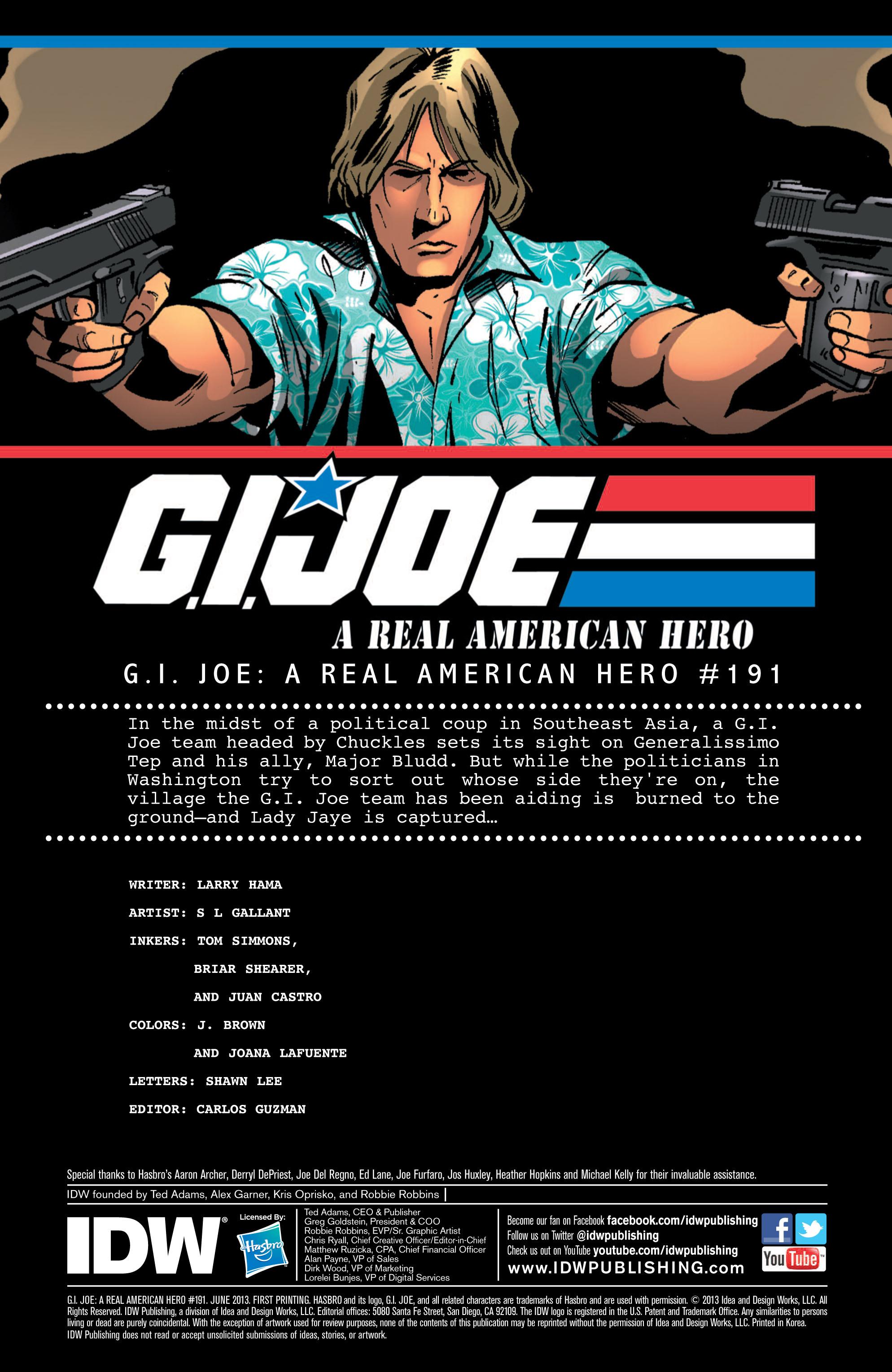 G.I. Joe: A Real American Hero 191 Page 1