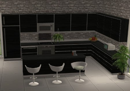 Sims  Kitchen Wall Paint With Backsplash Appearance