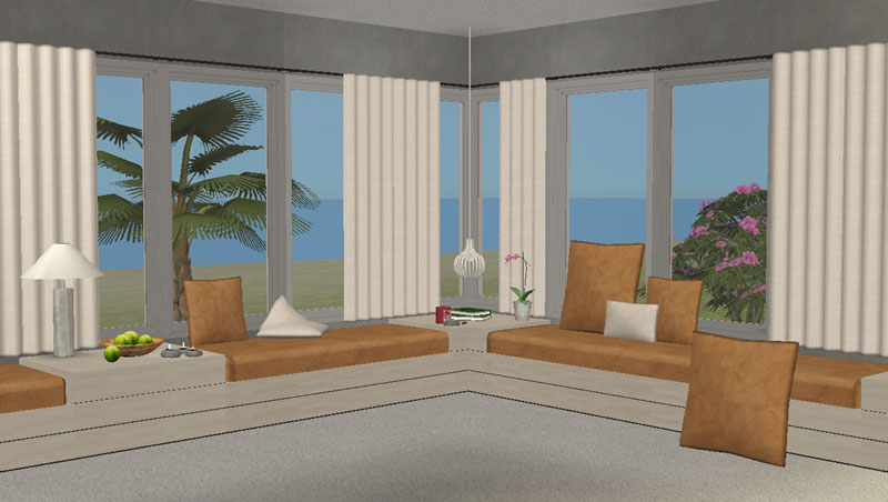 Bay Window Sofa Seating Intex Inflatable Air With Pull Out Queen Bed Mattress Nook Sofá By Moune999 The Sims 2