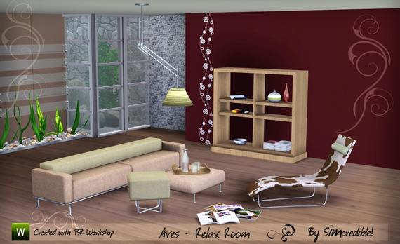 Ares Relaxing Room by SIMcredible! The Sims 3