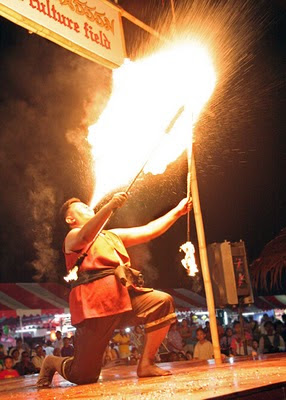 Firebreather at the Heroines Festival