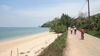 Cycling on the east coast of Koh Yao Noi