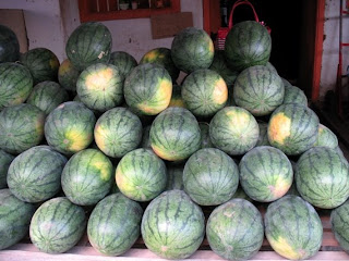 Watermelons for sale in old Phuket Town